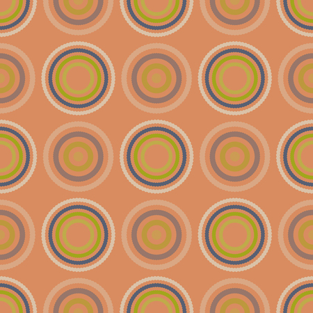 Vibrant circular seamless pattern, abstract colorful background, texture