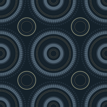 Vibrant circular large scale seamless pattern, abstract colorful background, texture.