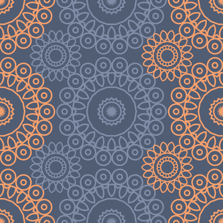 circular lacy seamless pattern, abstract colorful background, texture