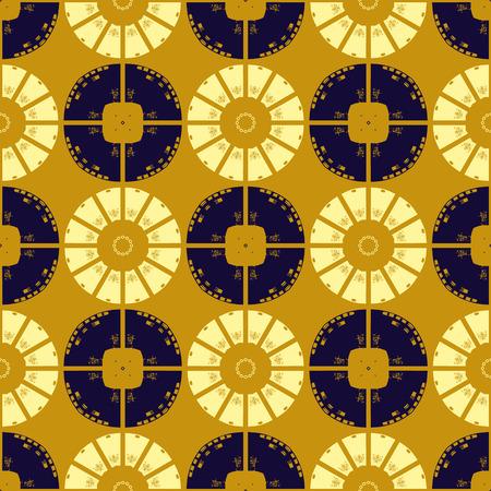 Circular tribal like seamless pattern, abstract colorful background, texture. seamless pattern, abstract colorful background, texture. Illusztráció
