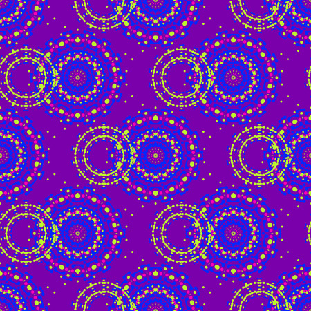 Vibrant circular seamless pattern, abstract colorful background, texture. seamless pattern, abstract colorful background, texture
