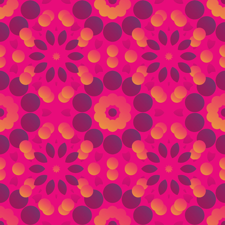 Flower like gradient seamless pattern, abstract colorful background, texture. seamless pattern, abstract colorful background, texture. Ilustrace
