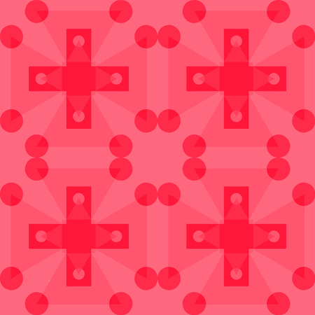 Geometric crosses seamless pattern, abstract colorful background, texture
