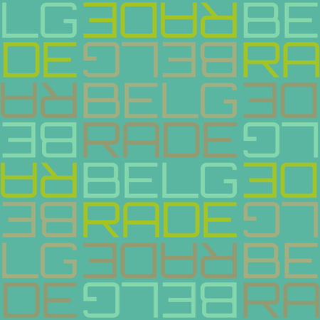 Belgrade, Serbia seamless pattern, typographic city background texture