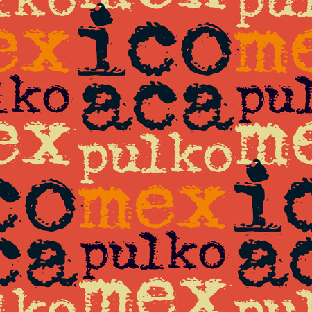 Acapulco, mexico seamless pattern Illustration