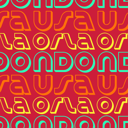 Orlando, USA seamless pattern, typographic city background texture
