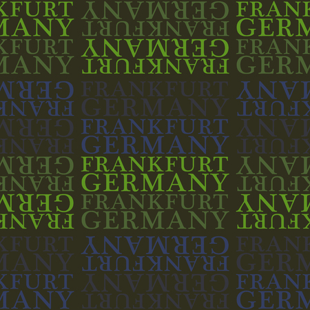 Frankfurt, Germany seamless pattern, typographic city background texture