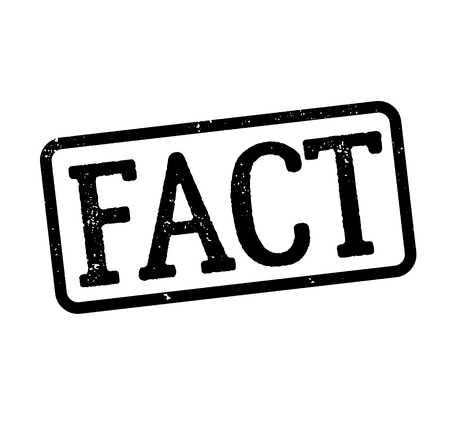 fact stamp on white background , typographic design Banque d'images - 112125270