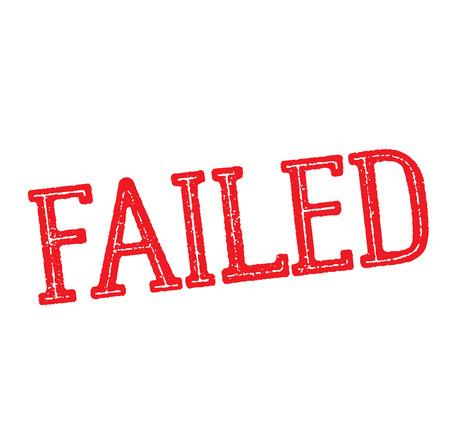 failed stamp on white background , typographic design Ilustrace