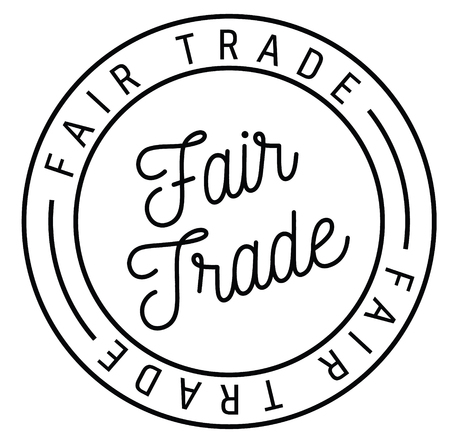 fair trade stamp on white background , typographic design