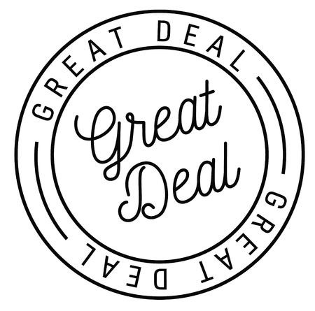 great deal stamp on white background , typographic design