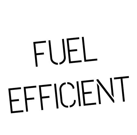 fuel efficient stamp on white background , typographic design Çizim