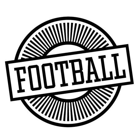 football stamp on white background , typographic design