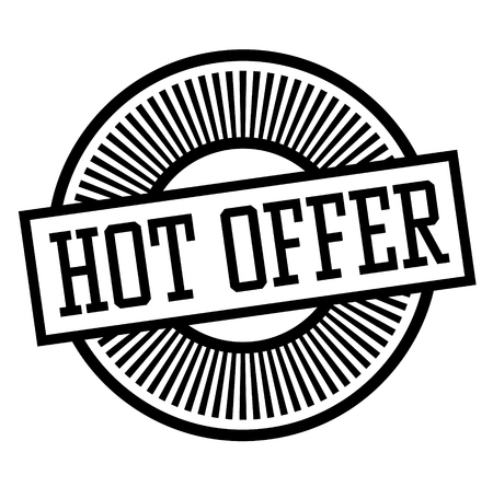 Hot Offer stamp on white background , typographic design