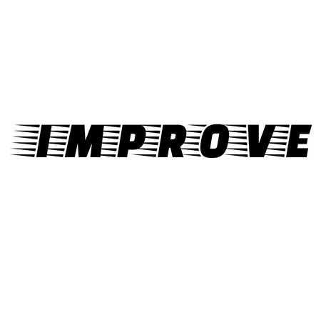 improve stamp on white background , typographic design Ilustração