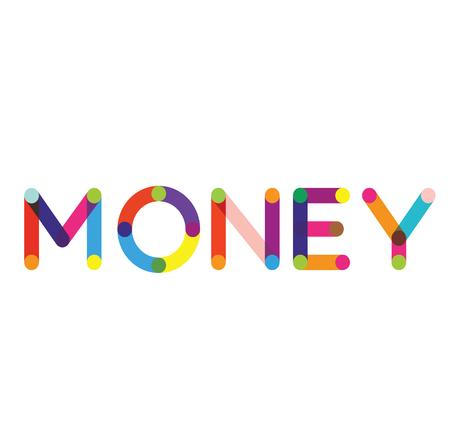 money label on white background , typographic design