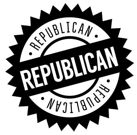 Republican stamp on white background , typographic design Çizim