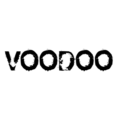 voodoo stamp on white background , typographic design
