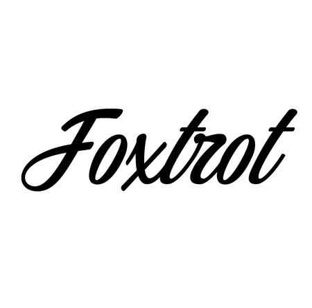 foxtrot label on white background , typographic design