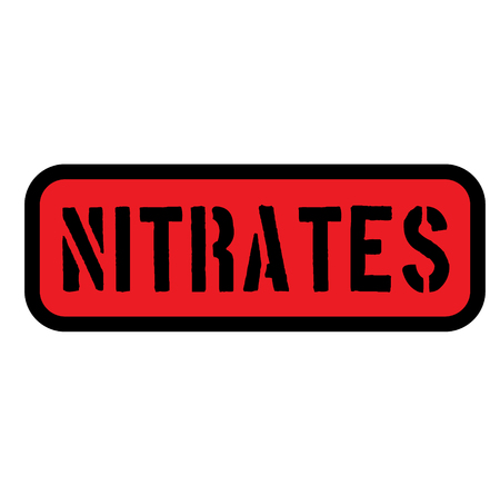 nitrates sign on white background , typographic design Illustration