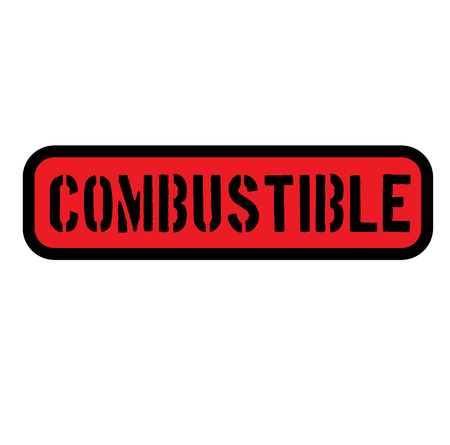 combustible sign , label