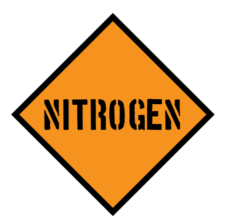 nitrogen sign on white background , typographic design