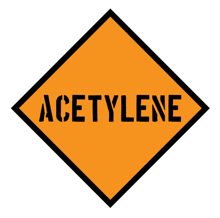 acetylene sign , label Illustration