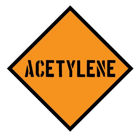 acetylene sign , label Illustration