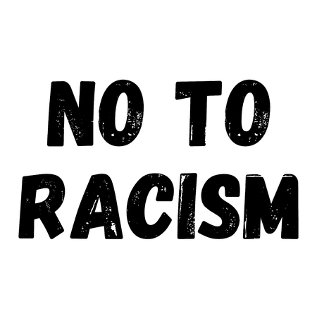 no to racism label