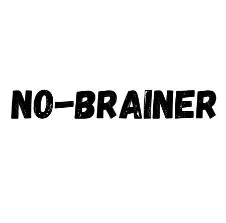 no-brainer label on white background , typographic design