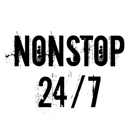 nonstop 24-7 stamp , label