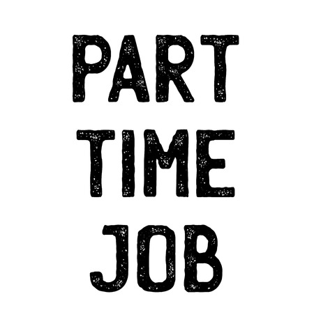 part time job stamp on white background