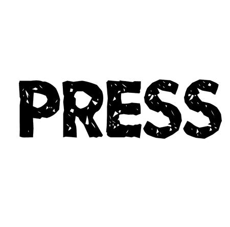 tampon de presse, étiquette Vecteurs