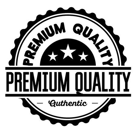 Premium Quality label Ilustração