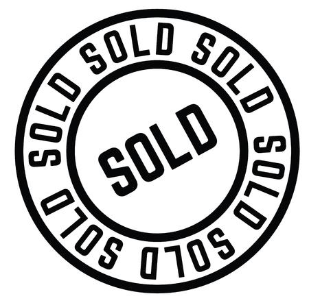sold stamp , label Illustration