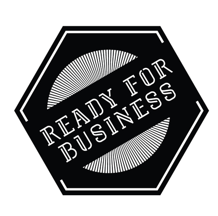 Ready For Business stamp on white background