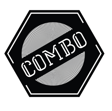 combo stamp on white background , typographic design