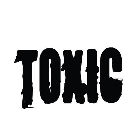 toxic stamp on white background , typographic design