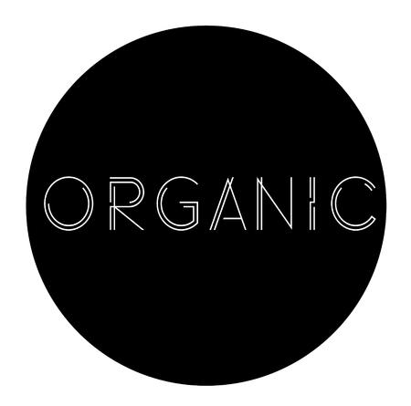 Organic label on white background , typographic design