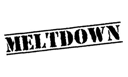 Meltdown typographic stamp Stock Illustratie