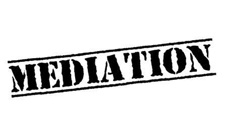 Mediation typographic stamp
