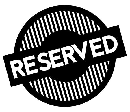 Reserved typographic stamp. Black circular stamp series. Illustration