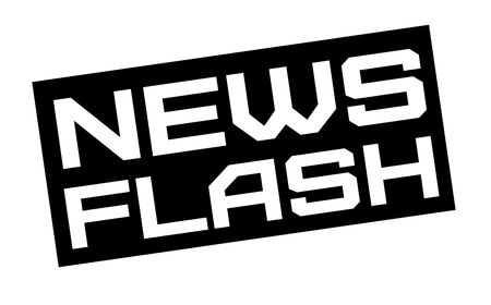 News flash typographic sign. Mosern black and red stamp.