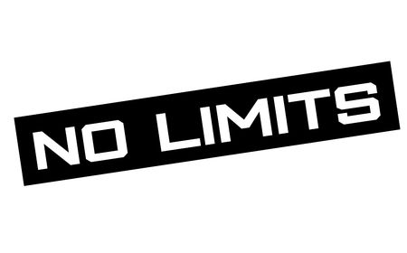 No limits typographic sign. Mosern black and red stamp. Illustration