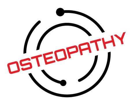 Osteopathy stamp on white