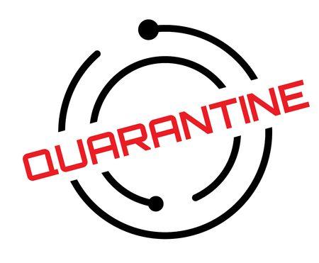 Quarantine stamp on white
