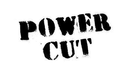 Power cut black stamp