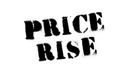 Price rise black stamp