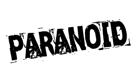 Paranoid black stamp Illustration