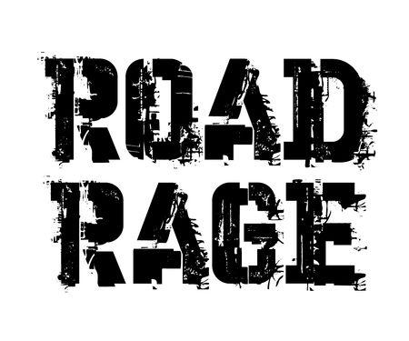 Road rage typographic stamp Vector Illustration